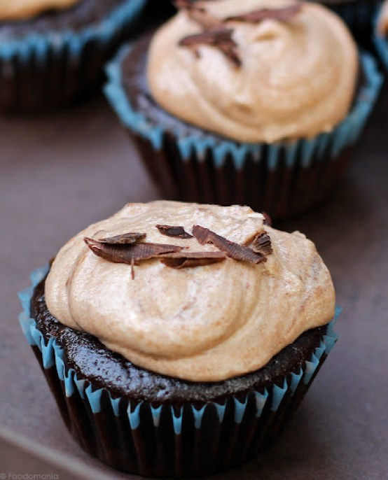 Chocolate Mousse Cupcakes Recipe | Eggless Mousse filled cupcakes