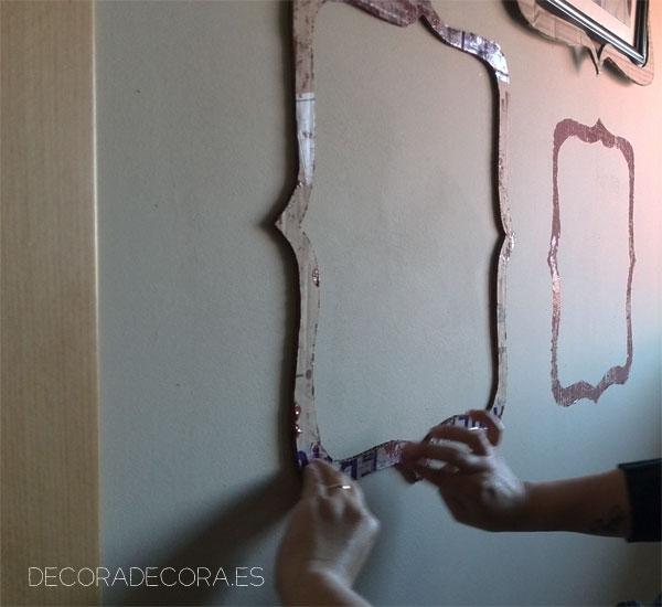 Marcos pintados con pintura color marsala