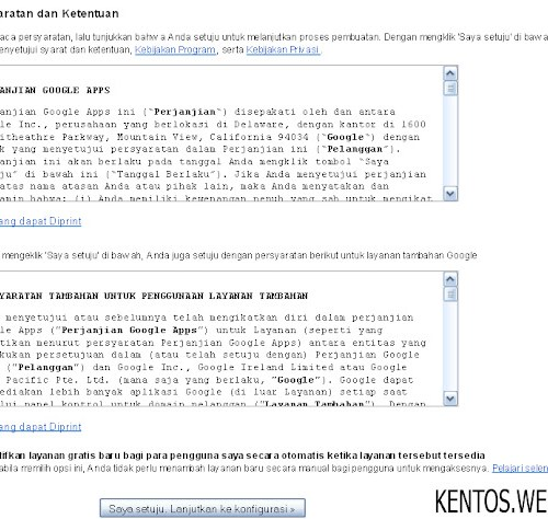 Cara Membuat Email Gratis Menggunakan Domain Sendiri setuju