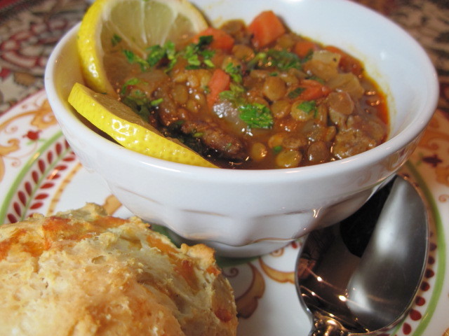 Lentil Stew with Lemon and Sausage Recipe