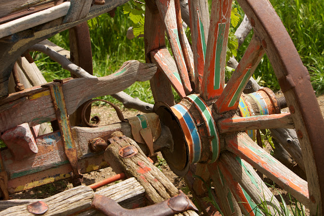 painted wagon wheel