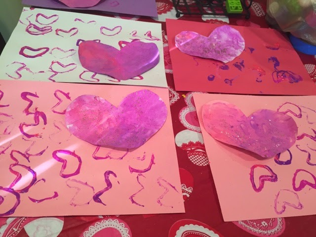 Diy Kids Valentine S Day Placemats Views From A Step Stool