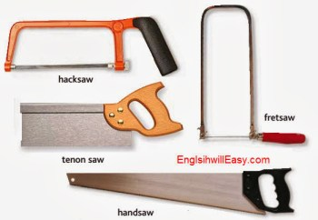 hacksaw, tenon saw, fretsaw,