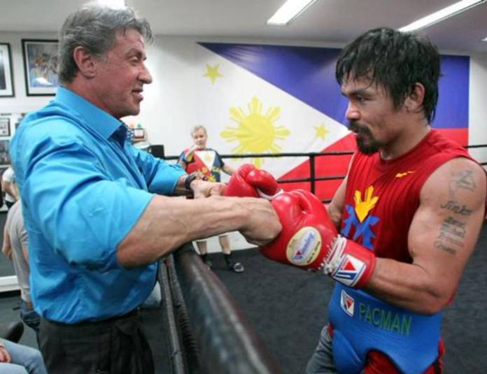 Sylvester Stallone y Manny Pacquiao