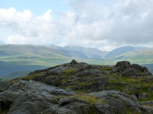 Great Crag Summit ... sunshine over there but not here!!