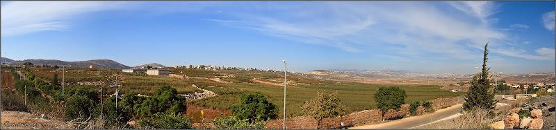 Фото: Панорама: Метула - от Ливана до Израиля