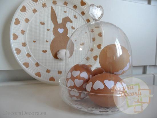 Decorar en Pascua fácilmente con huevos.