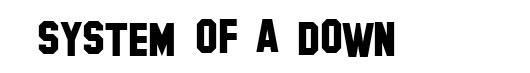 Hollywood Hills font logo SOAD