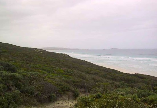 Looking south to Hamelin Bay with Boranup Beach in the foreground - Cape to Cape Track