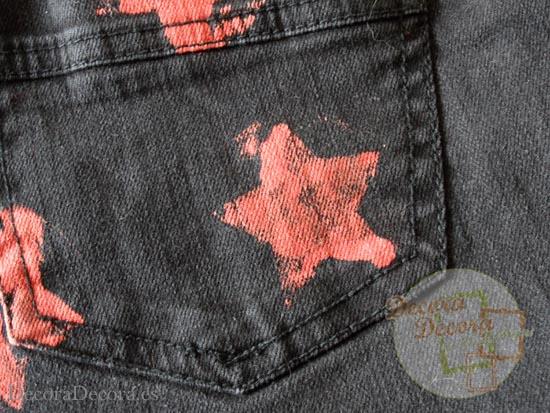 Cómo estampar y decorar un pantalón.