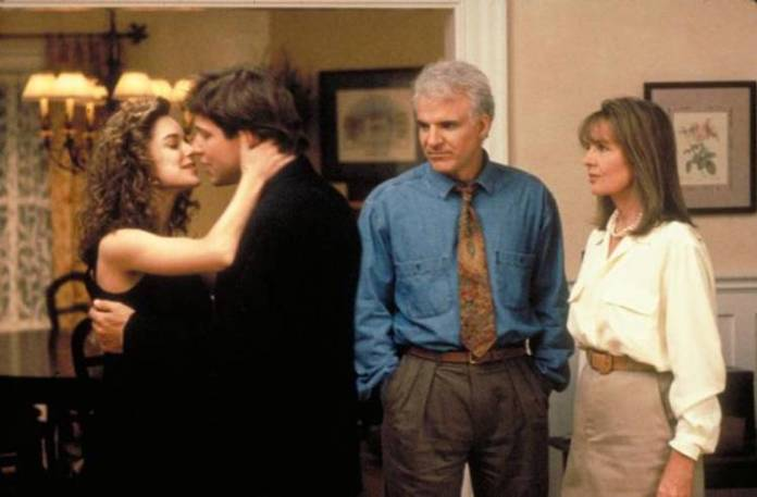 "Steve Martin y Diane Keaton en ""El padre de la novia"""