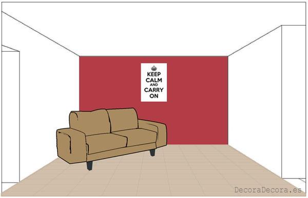 Pintar las paredes según la disposición de los muebles