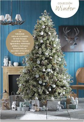 Decorar en Navidad con inspiración invernal.