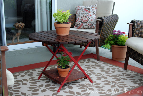 Restored Wood Side Table
