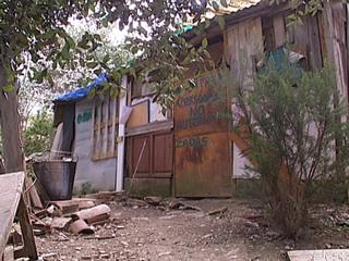 Una barraca del barri de Can Rectoret, en plena serra de Collserola
