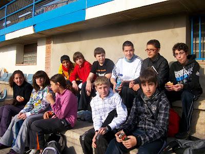 Alguns alumnes que van assistir a la Trobada