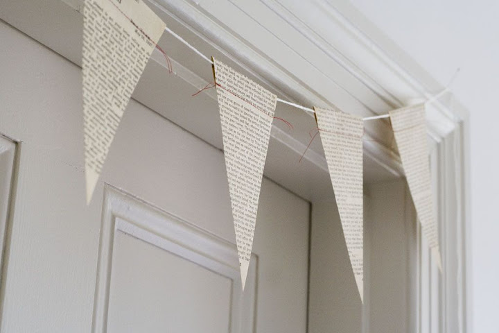 Tuesday's Resourceful Little Idea: DIY Recycled Paper Bunting (1/6)