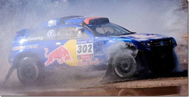 Nasser al Attiyah (driver) and Timo Gottschalk (co-driver) in action during the 11th stage of   Dakar Rally between Chilecito and San Juan, Argentina on january 13th, 2011