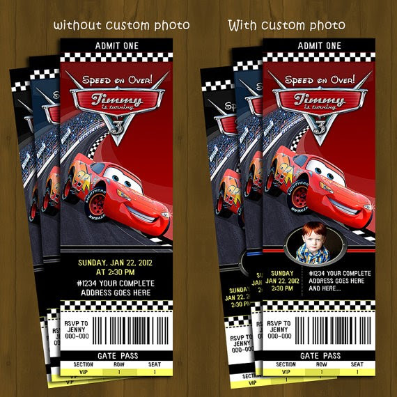 template free personalized disney cars