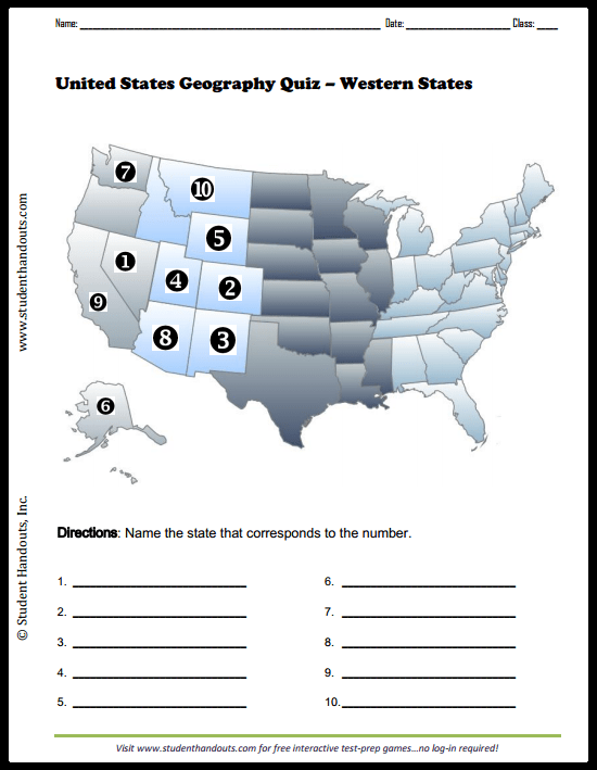 Put each us state on the map! Us States Map Quiz Jetpunk