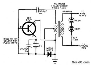 ELECTRIC FENCE: ELECTRIC FENCE CHARGER CIRCUIT DIAGRAM
