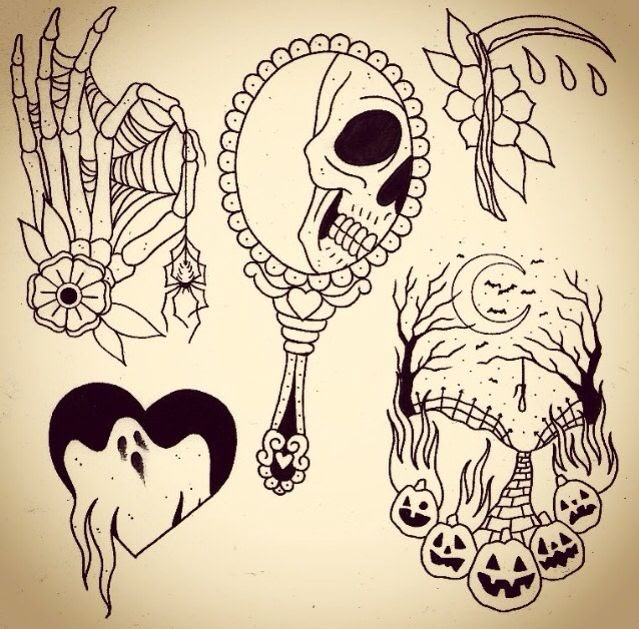 This quick history lesson will help you understand how this festive holiday began. Cute Halloween Tattoo Ideas