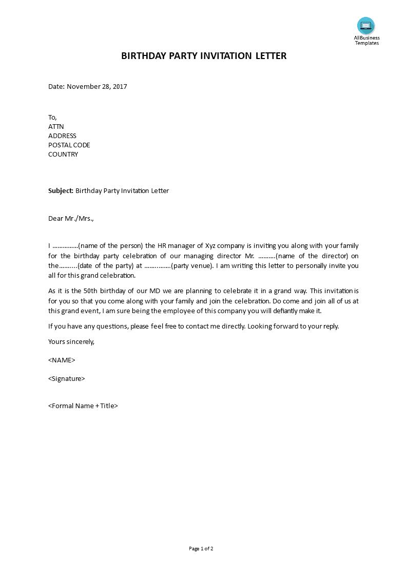 birthday invitation letter in kannada