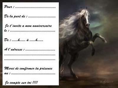 carte d anniversaire a imprimer cheval