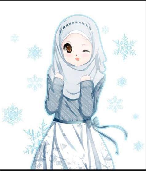 gambar kartun muslim muslimah couple berbincang tentang gambar kartun muslim muslimah couple biasanya anda kerap tahu di internet waktu kamu hendak ingin mencari foto untuk menjadi dp media sosial. 31 Gambar Wanita Kartun Berhijab Cantik Gambar Kartun