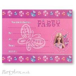 barbie birthday party beverage napkins