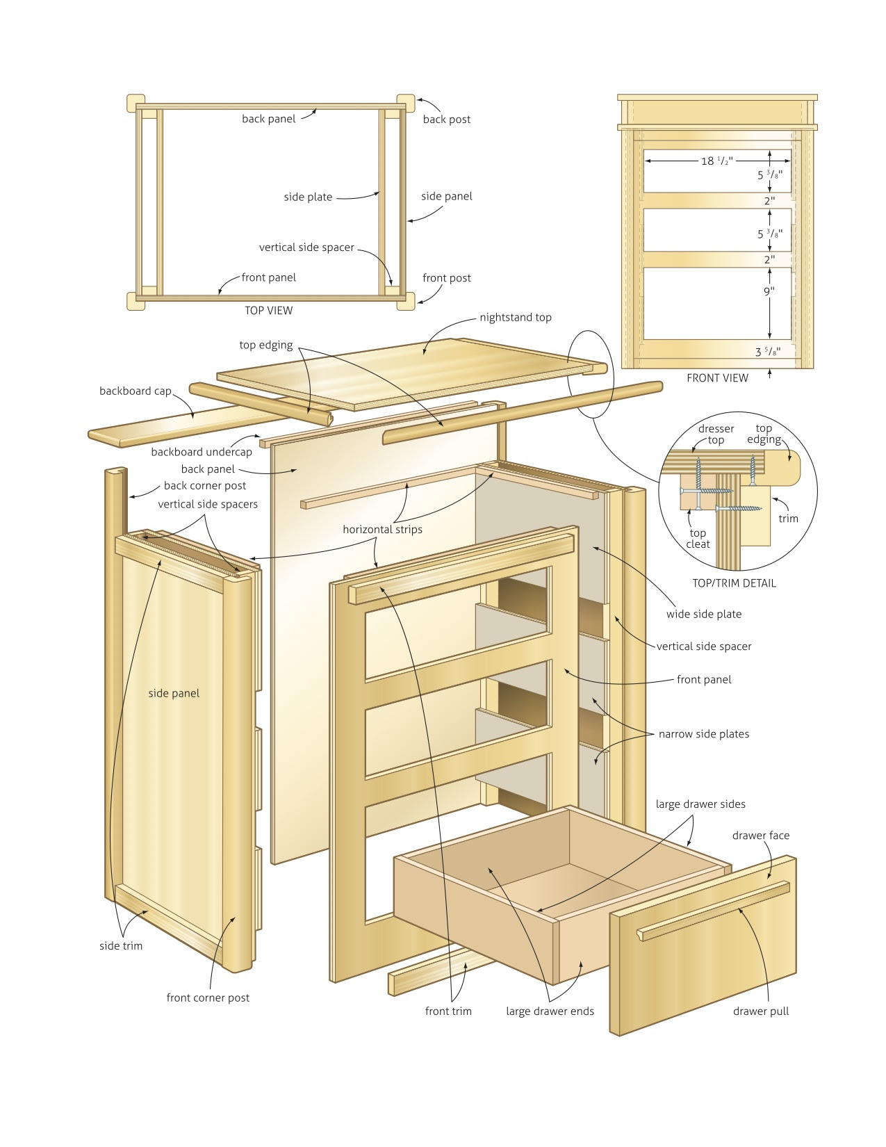 Wood Furniture Patterns Woodworking Plans Nightstand