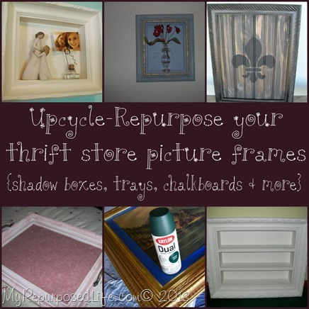 My Repurposed Life-Upcycle Picture Frames