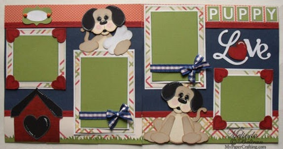 Download My Paper Crafting.com: Puppy Love Layout