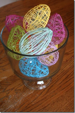 Yarn or embroidery floss eggs