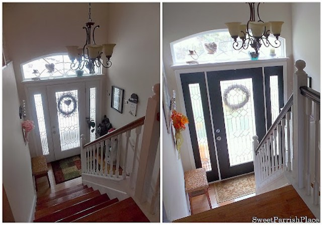 entry before and after