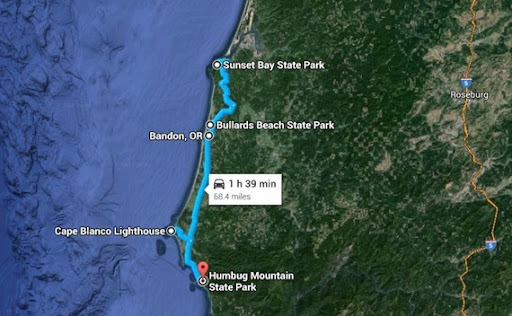 camping route coast 2014