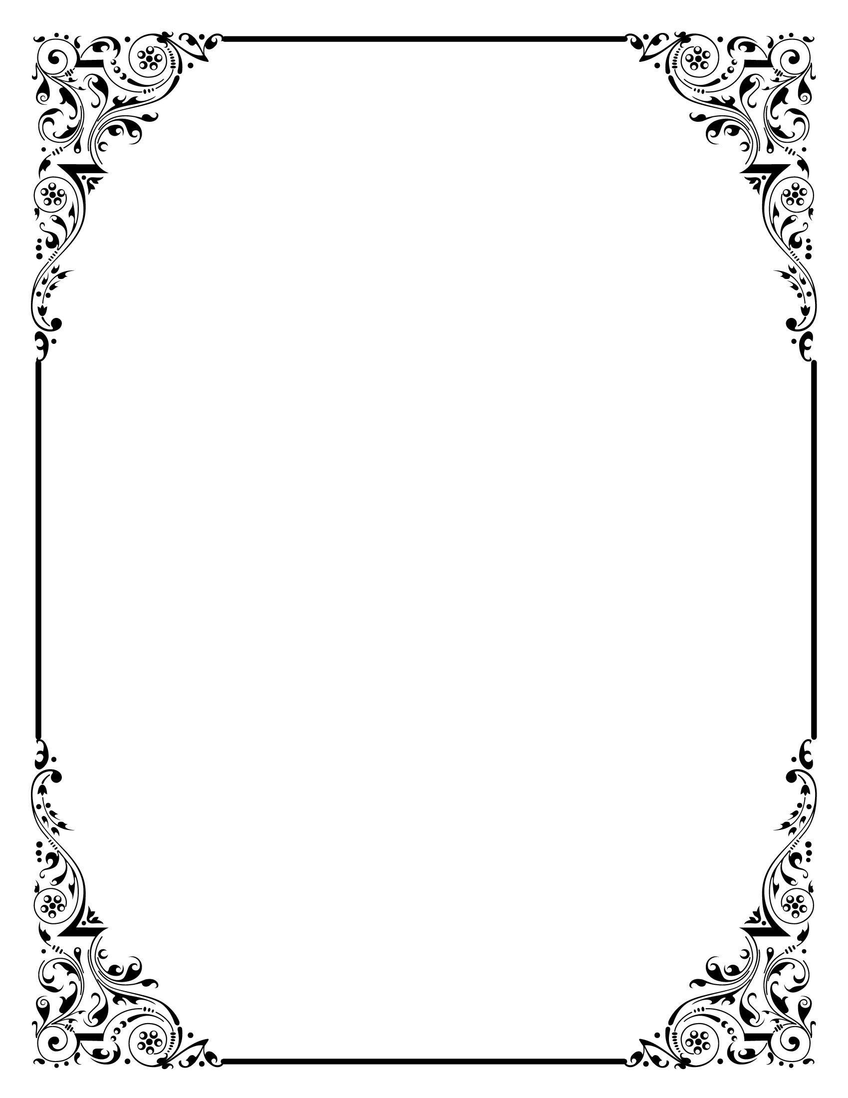 Elegant Wedding Page Borders