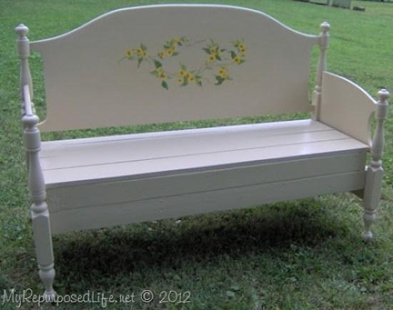 full sized maple headboard bench
