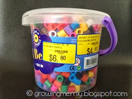 Tub of beads