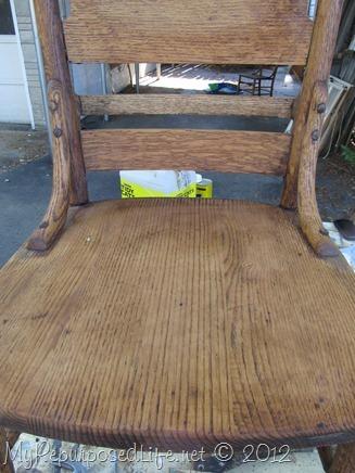 antique pew chair restoration (12)