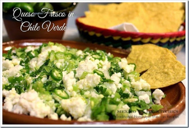 Cheese in chile verde7