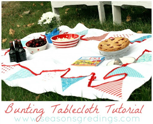 Bunting Tablecloth Tutorial by Seasons Gredings