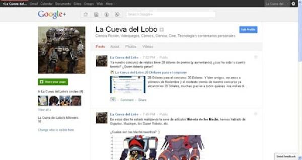 La Cueva del Lobo Google Plus