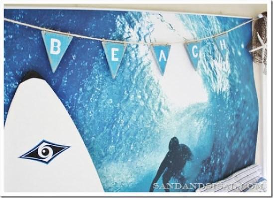 Beach Pennant Banner