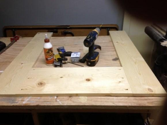 Building a Faux Fireplace Mantel 3