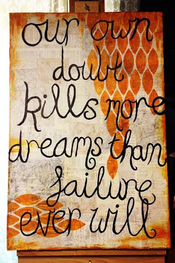 Artful Fancies: Doubt Kills canvas by Melita Bloomer