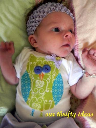 Our Thrifty Ideas: No sew baby onesie