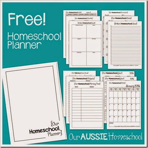 Free Homeschool Planner! ~ from Our Aussie Homeschool