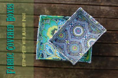 caixas de papelão forradas com tecido