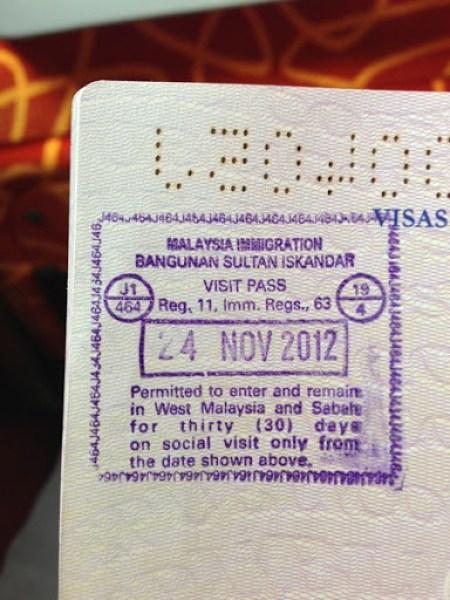 Yining's First Passport Stamp